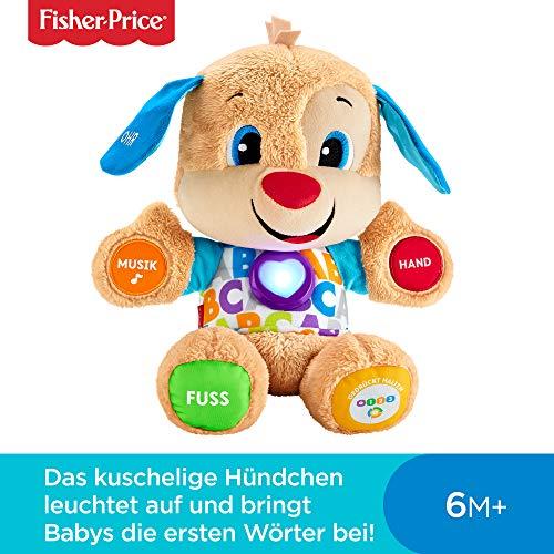Fisher-Price FPM50 - Lernspaß Hündchen, Plüschtier und Lernspielzeug mit Liedern und...