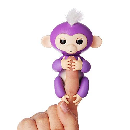 Fingerlings Äffchen lila mit weißem Haar Mia 3704 interaktives Spielzeug, reagiert auf...