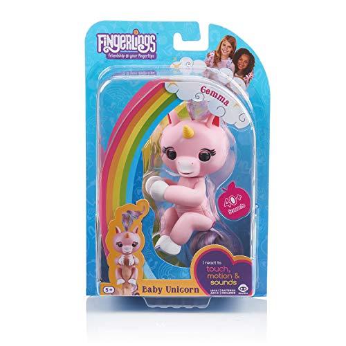 Fingerlings Einhorn rose mit Regenbogenmähne, interaktives Spielzeug, reagiert auf...