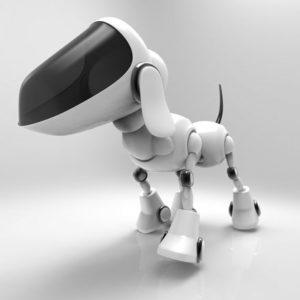 Moderner Roboter Hund läuft