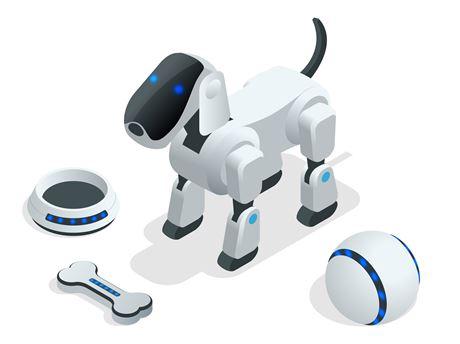 Roboter Hund mit Zubehör