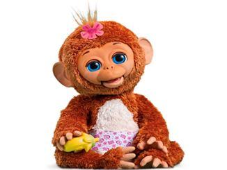 Cuddles mein Baby Äffchen mit Fläschchen in der Hand