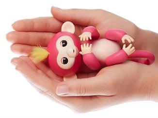 Fingerlings Äffchen liegt auf Hand